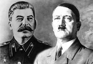 hitler and stalin montagem