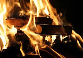 livros queimando